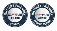 Military Friendly School MF'19-20 Award and Military Spouse Friendly School MF'19-20
