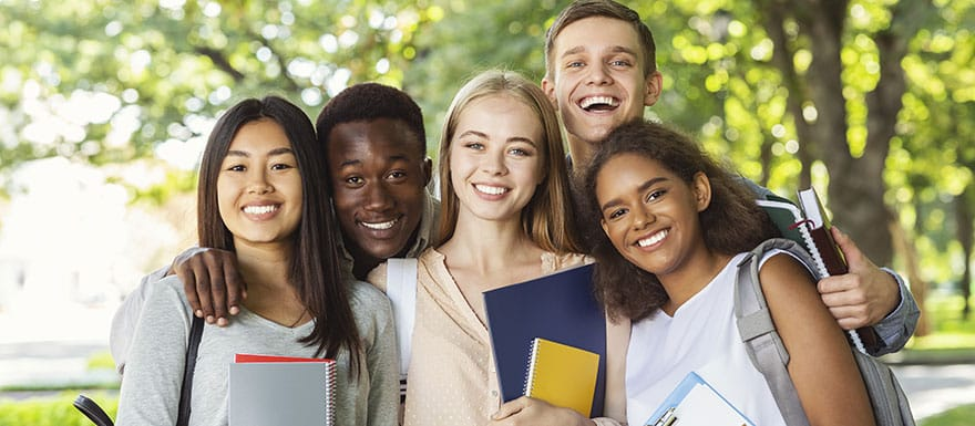 Group of international students.